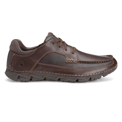 Rocsports Lite Moc Toe Men's Casual Dress Shoes in Brown